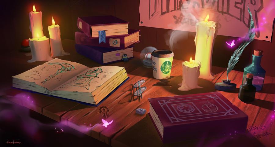 Magic work area by Nicohh