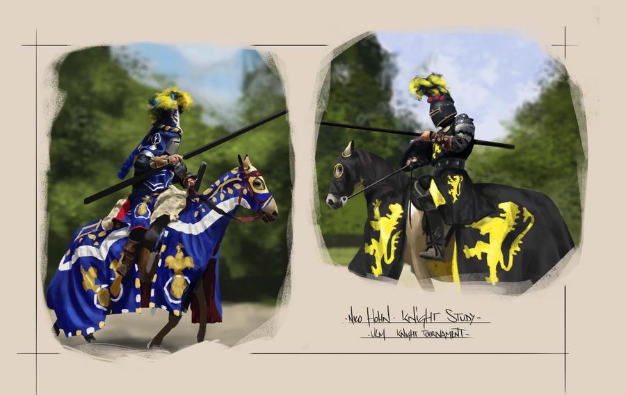 Knight Studys by Nicohh