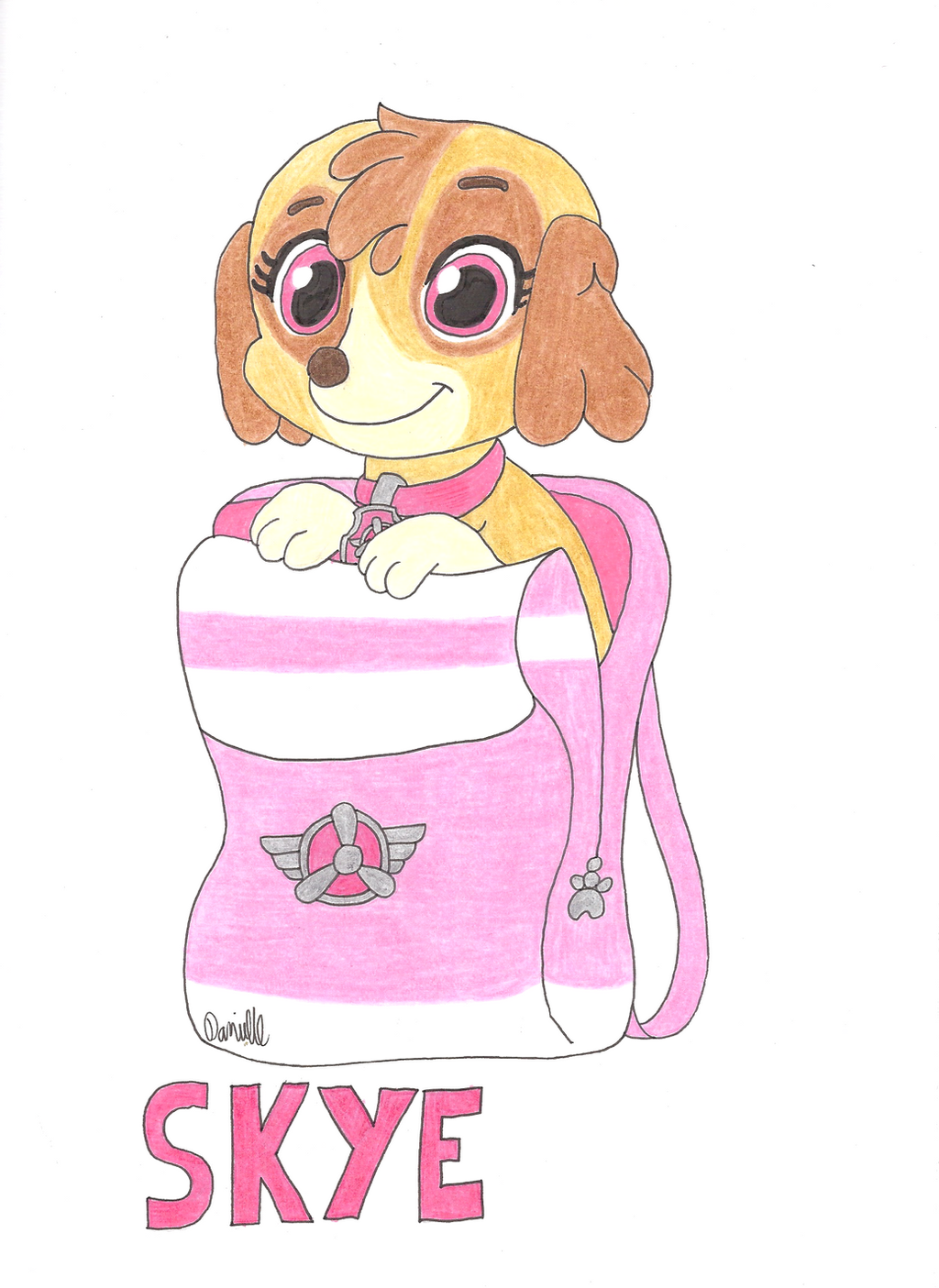 It's just a graphic of Agile Skye Paw Patrol Drawing