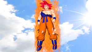 [SFM] Goku(Super Saiyan God)