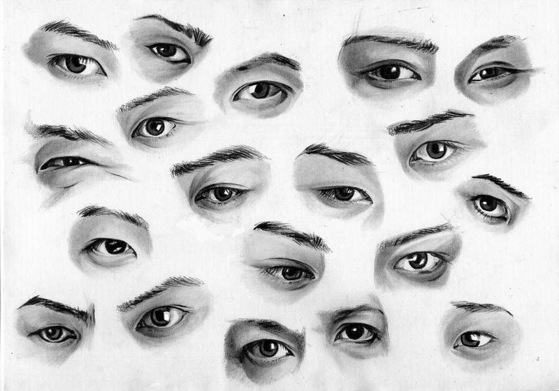 Sketches Of Eyes. Eyes sketches by ~FinAngel on