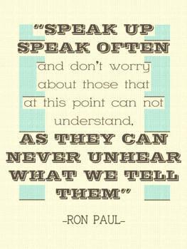 Speak Up, Speak Often
