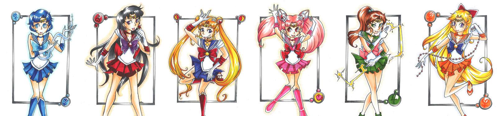 Sailor Senshi Nostalgia! by nikkaroo