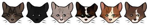 Smol Cat Heads by becauseDia