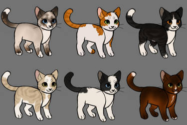 Cat Adopts (2/6 OPEN reduced) by becauseDia