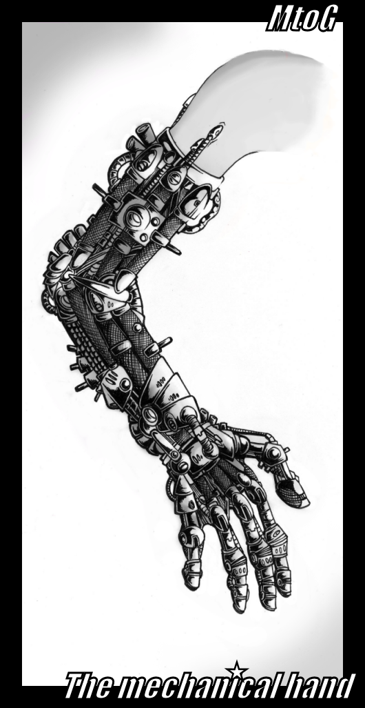 Mechanical hand art - photo#15