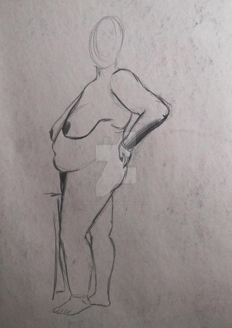 Lounging Lady Study 2 by anthonycalifano