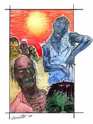 Zombie Sunset by YouFoolWarrenIsDEAD