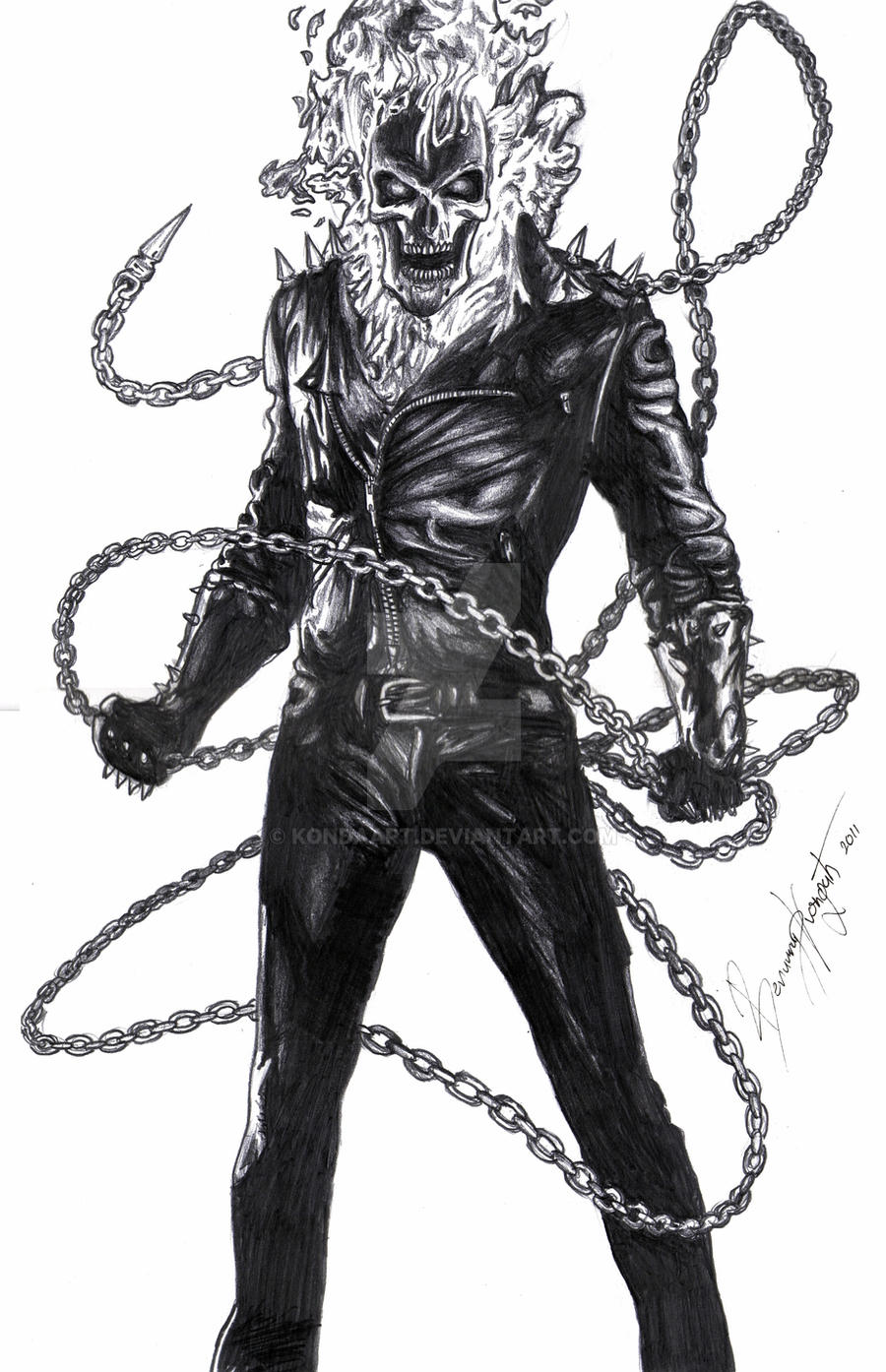 Cowboy Ghost Rider Drawings   www.pixshark.com - Images ...