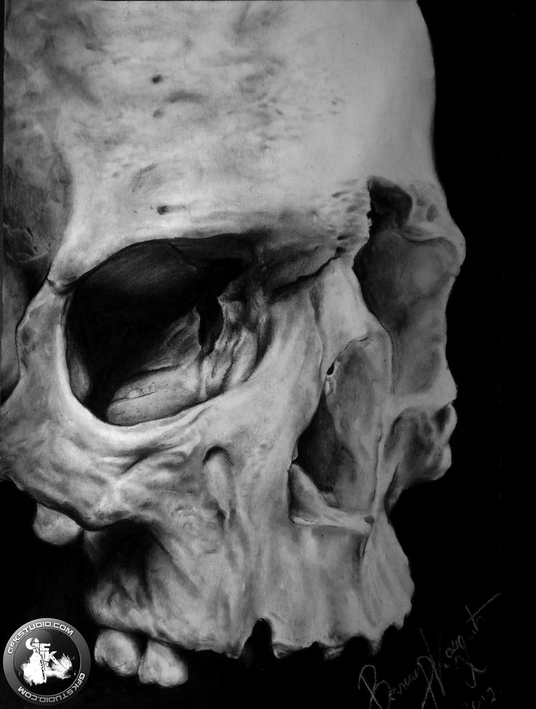 skull drawing by kondaart on deviantart