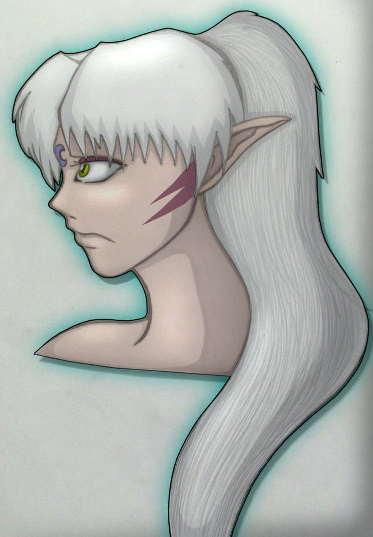 Sesshomaru With A Ponytail by Prepare-Your-Bladder
