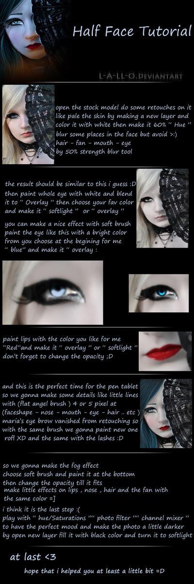 Half Face photomanipulation Tutorial by l-a-ll-o