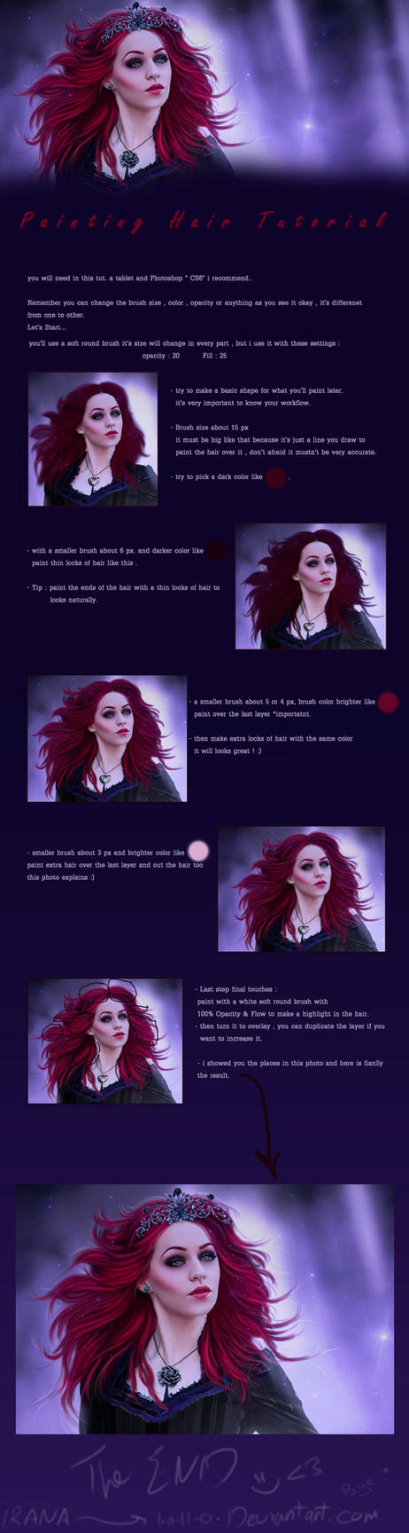 painting Hair Tutorial by l-a-ll-o