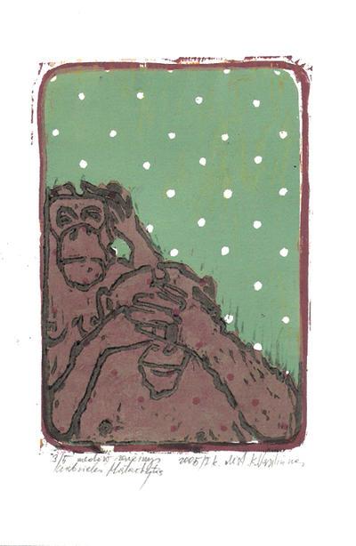 two monkeys by Cinomiu