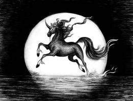 Moonlight's unicorn - AT for Lorellyne by Stolvezen