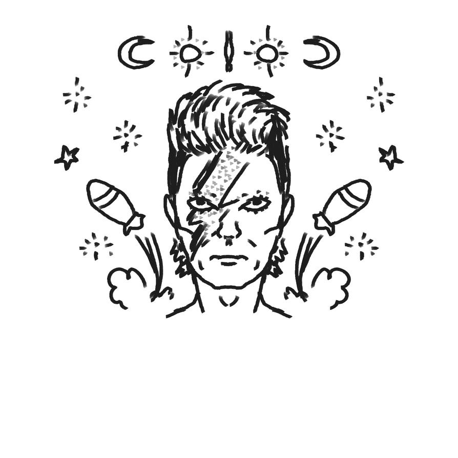 David Bowie by au-revoir-simone