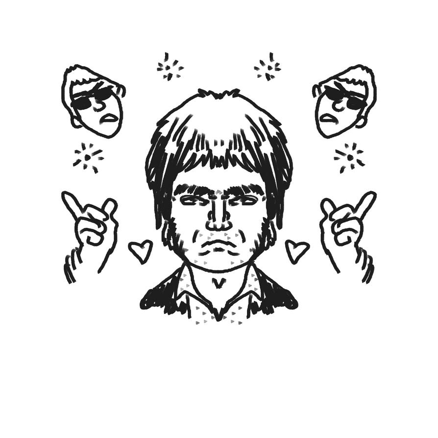 Noel Gallagher by au-revoir-simone