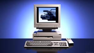 Commodore Amiga 3000 photo ad remake in 3D