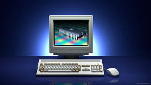 Commodore Amiga 1200 photo ad remake no 2 in 3D