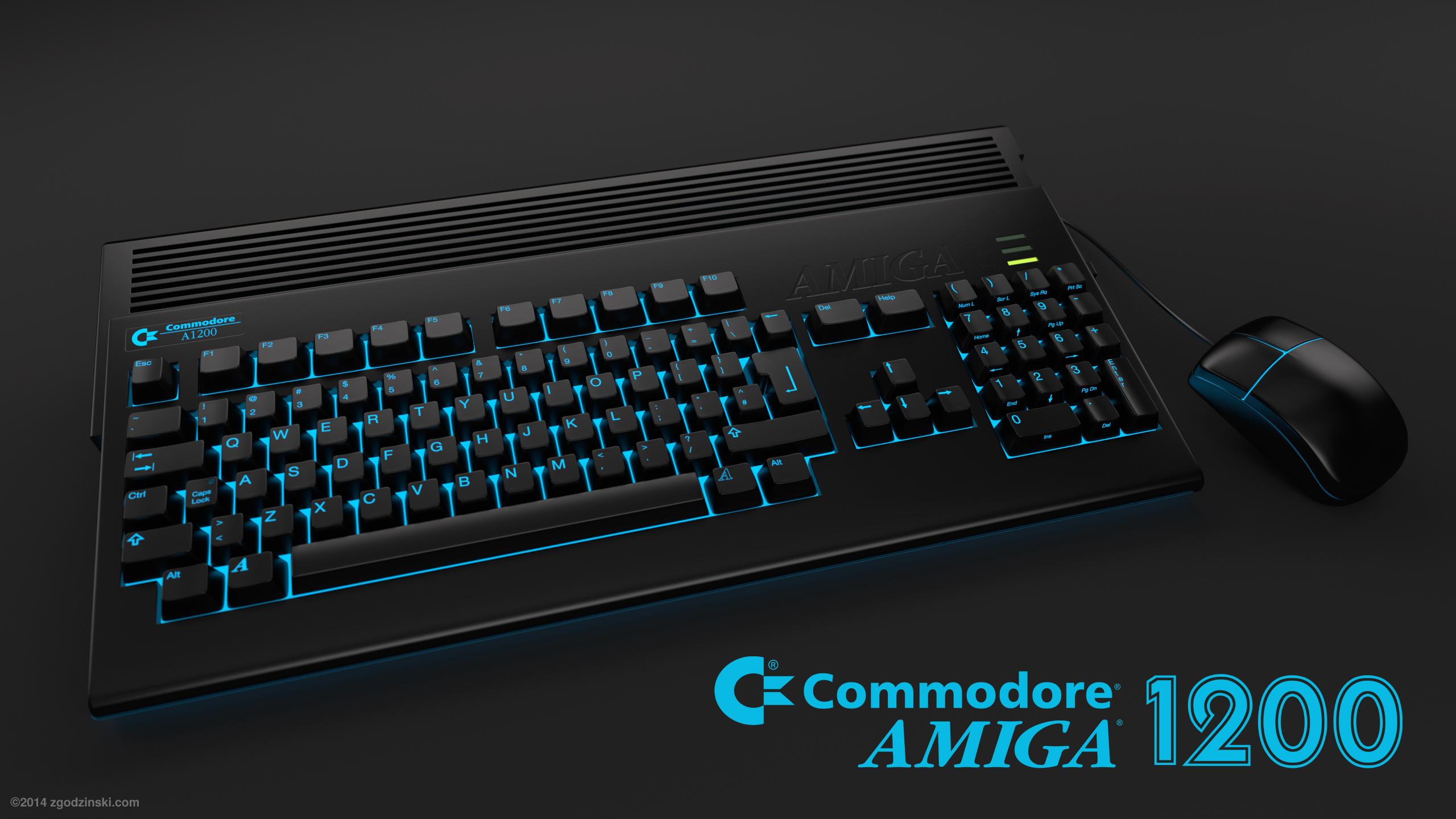 Amiga 1200 desktop computer - alternative reality by zgodzinski