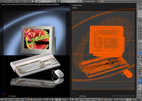 Amiga Technologies poster remake in 3D by zgodzinski