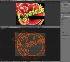 Gelato neon remake in 3D by zgodzinski
