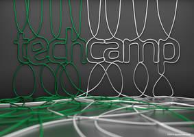Poster designed for TechCamp technology conference by zgodzinski
