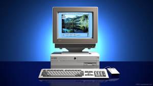 Commodore Amiga 4000 in 3D (C. Deutschland ad)