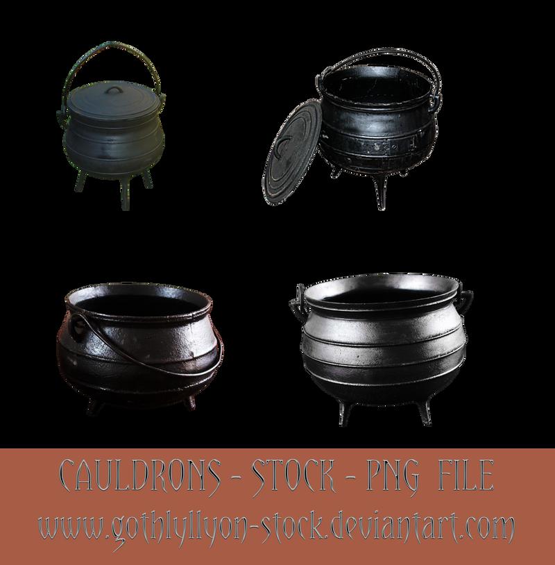 Cauldrons-Stock-by-GothLyllyOn-Stock