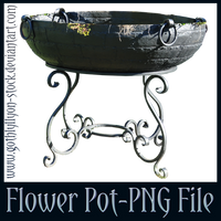 Big Flower Pot-PNG Stock-by-GothLyllyOn-Stock by GothLyllyOn-Sotck