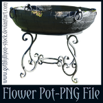 Big Flower Pot-PNG Stock-by-GothLyllyOn-Stock