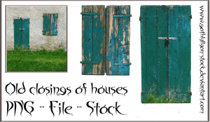 Old closings of houses-PNG-GothLyllyOn-Stock