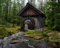 Water Mill-by-GothLyllyOn-Stock by GothLyllyOn-Sotck
