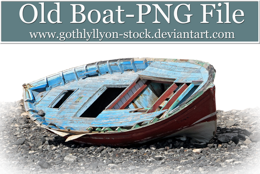 Old Boat-by-GothLyllyOn-Stock