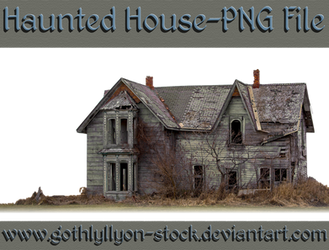 Haunted House-PNG-by-GothLyllyOn-Stock