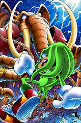 Chaos Knuckles VS Mammoth Mogul by Super-Knuckles
