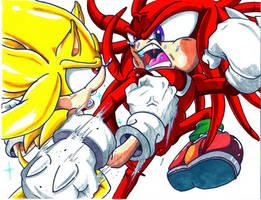 Super Sonic VS Knuckles