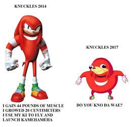 Meme Knuckles Boom Vs Ugandan Knuckles
