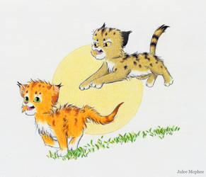 Rudy and Gizmoe by Julee-Mcphee