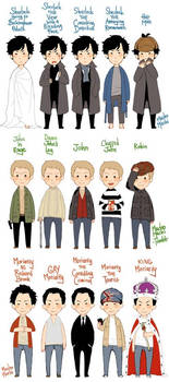 lots of sherlock, john, and jim
