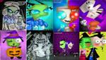Art Dum Invader Zim by queencastilla