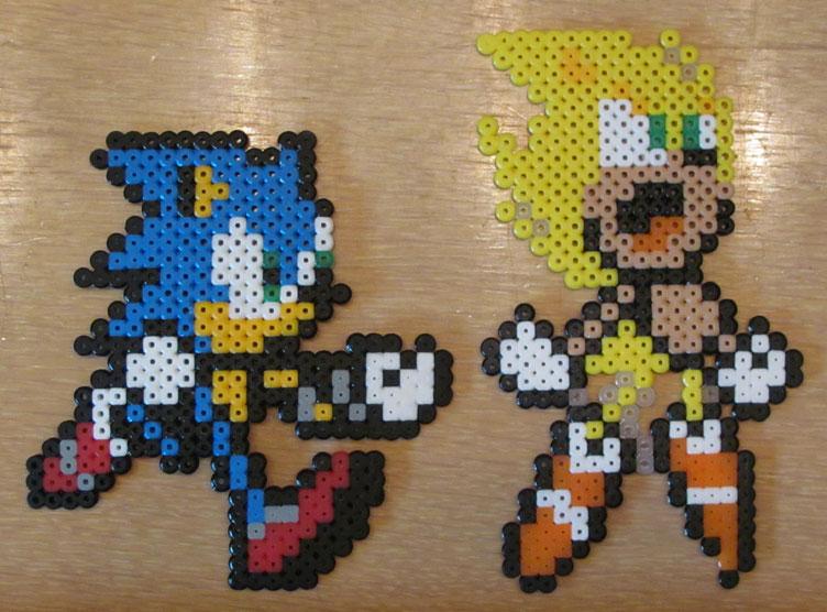 Sonic Super Sonic Bead Sprites By Emagnusson On Deviantart