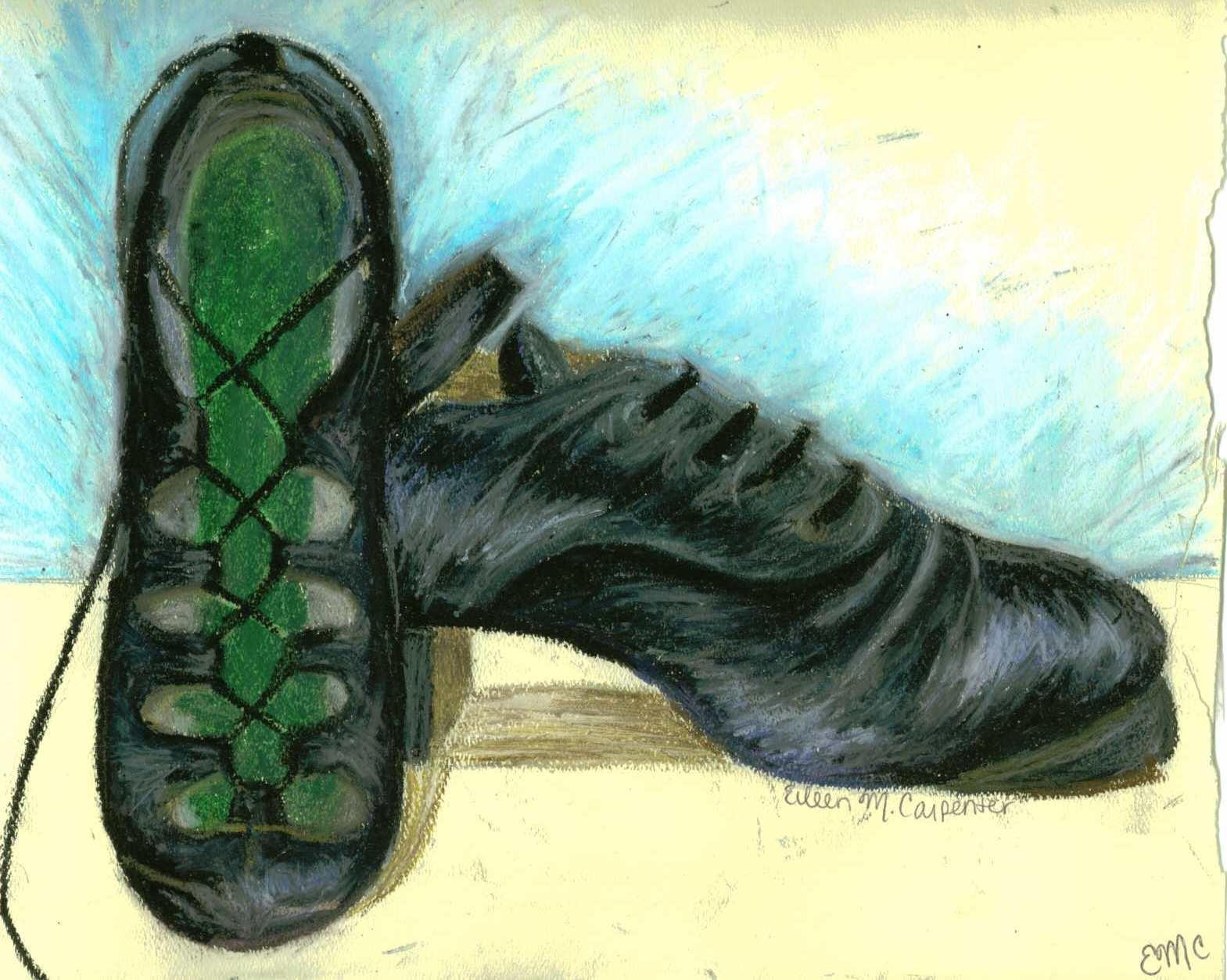 Irish Dancing Shoes Drawing