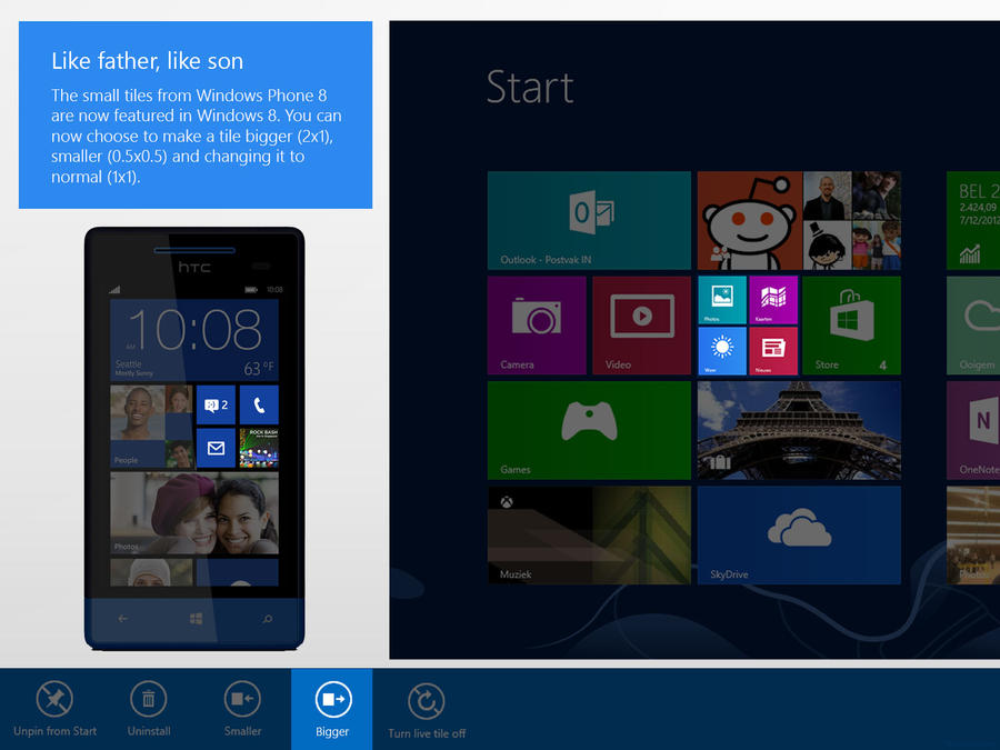 Windows 8 Tiles - Like father, like son by RVanhauwere