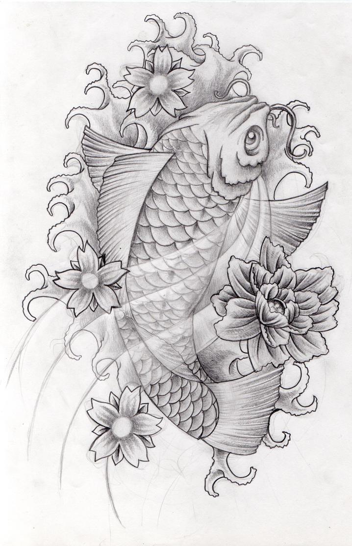 Koi Fish Tattoo Designs Black And White 1 Koi Tattoo ...
