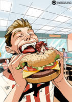 Minigirl Burger by vore-fan-comics