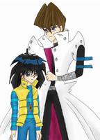 Kaiba and Mokuba by Sunbeam482