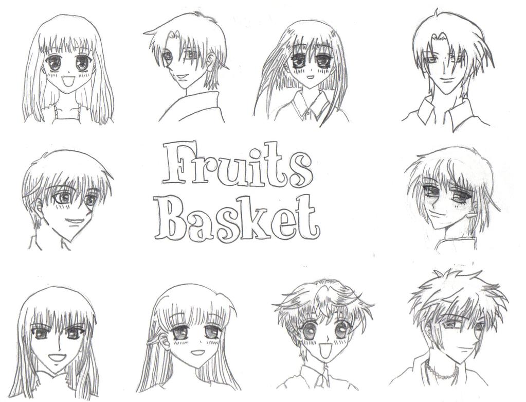 fruits basket coloring pages manga - photo#4