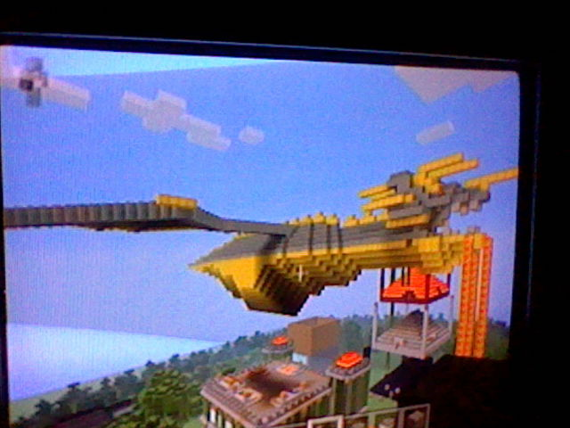 Minecraft Freebuild Flying Lava Dragon by blackzero04