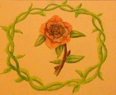 Vine Ring Rose Oil Pastals by blackzero04